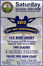 2015 ASC Trap Championship Flyer